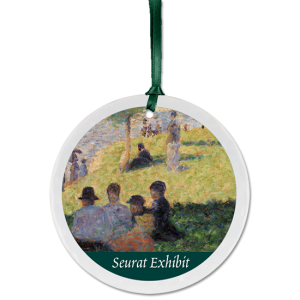 Custom Christmas ornament example with Seurat painting
